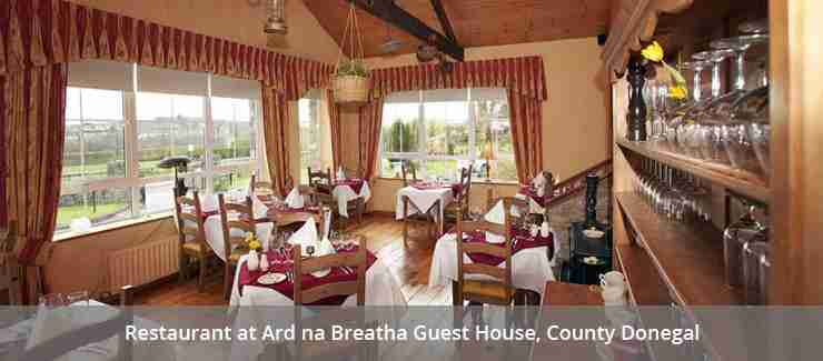 Restaurant at Ard na Breatha Guest House, County Donegal