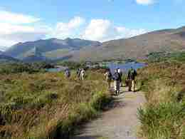 Walk part of the Kerry Way across the broad expanse of moorland