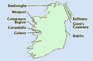 Map: Hidden Ireland North