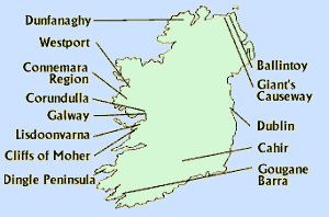 Map: Hidden Ireland