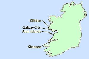 Tour Map: Western Ireland Break