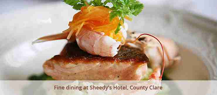 Fine dining at Sheedy's Hotel, County Clare