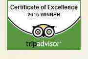 Tripadvisor - Certificate of Excellence - 2015 Winner
