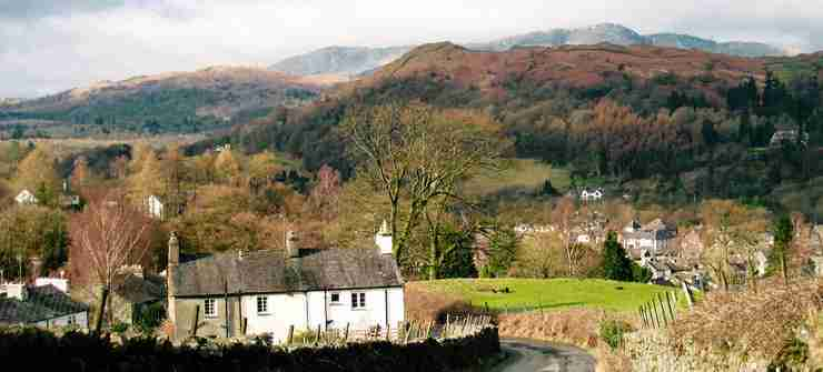 Lake District village and countryside